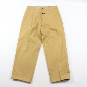 90s Girbaud Mens 34x29 Spell Out Jeans Pants Tan